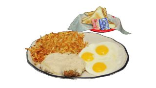 Chicken Fried Steak & Eggs Breakfast