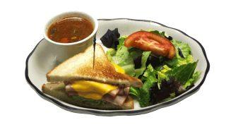 half sandwich soup salad